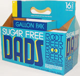 Vintage soda pop bottle carton DADS ROOT BEER 8 pack Sugar Free new old stock