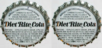 Soda pop bottle caps Lot of 25 DIET RITE COLA cork lined unused new old stock