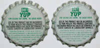 Soda pop bottle caps Lot of 25 DIET YUP #1 plastic lined unused new old stock