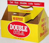 Vintage soda pop bottle carton DOUBLE COLA Double or Nothing slogan unused n-mint