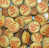 Soda pop bottle caps Lot of 25 DUKE CREAM baby pictured cork lined new old stock