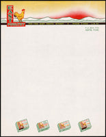 Vintage letterhead EAST POULTRY full color chicken Austin Texas unused n-mint+