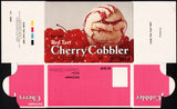 Vintage box ENGELHARDTS ICE CREAM Cherry Cobbler Bay City Michigan unused n-mint