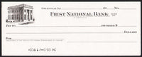 Vintage bank check FIRST NATIONAL BANK Greenville Illinois bank pictured n-mint