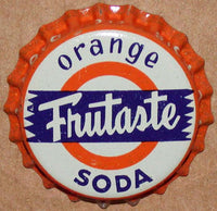 Vintage soda pop bottle caps FRUTASTE Collection of 3 different new old stock