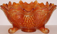 Vintage CARNIVAL GLASS Fenton Grape Cable Persian Medallion large bowl n-mint