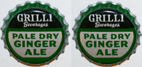 Soda pop bottle caps Lot of 25 GRILLI GINGER ALE cork lined unused new old stock