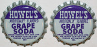 Soda pop bottle caps Lot of 25 HOWELS GRAPE SODA plastic lined new old stock