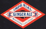 Vintage soda pop bottle label IMPERIAL GINGER ALE diamond shaped new old stock
