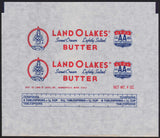Vintage wrapper LAND O LAKES BUTTER indian maiden Mia Minneapolis Minn older one