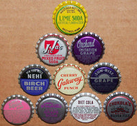 Vintage soda pop bottle caps LOT OF 1000 ALL UNUSED ORIGINALS over 75 different
