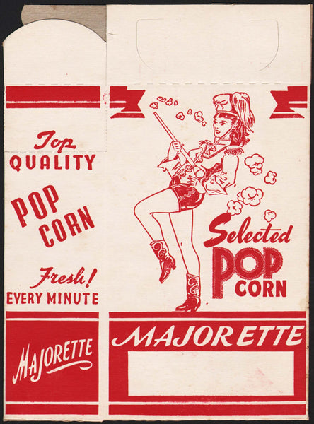 Vintage box MAJORETTE POPCORN woman pictured unused new old stock excellent+