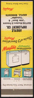 Vintage matchbook cover MAYTAG washers Argyle Implement John Deere Minnesota