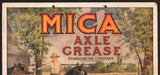 Vintage sign MICA AXLE GREASE Standard Oil Company dated 1913 Extremely RARE