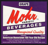 Vintage soda pop bottle label MOHR GRAPE Toledo Ohio unused new old stock n-mint+