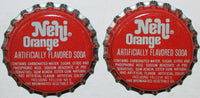 Soda pop bottle caps Lot of 25 NEHI ORANGE plastic lined unused new old stock