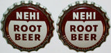 Soda pop bottle caps Lot of 25 NEHI ROOT BEER cork lined unused new old stock