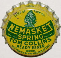 Vintage soda pop bottle cap NEMASKET SPRING indian pictured cork new old stock