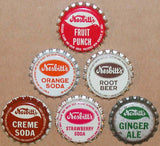 Vintage soda pop bottle caps NESBITTS Collection of 15 different new old stock