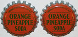 Soda pop bottle caps Lot of 25 ORANGE PINEAPPLE cork lined unused new old stock