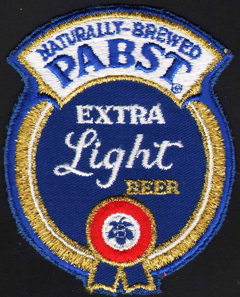 Vintage uniform patch PABST EXTRA LIGHT BEER die cut unused new old stock n-mint+