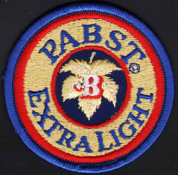 Vintage uniform patch PABST EXTRA LIGHT beer round unused new old stock n-mint+