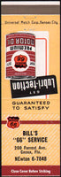 Vintage matchbook cover PHILLIPS 66 Motor Oil can pictured Bills Cocoa Florida