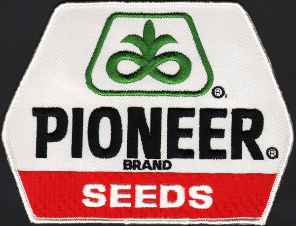 Vintage uniform patch PIONEER BRAND SEEDS large unused new old stock n-mint+