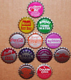 Vintage soda pop bottle caps 12 DIFFERENT plastic lined mix #9 new old stock