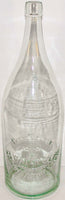 Vintage soda pop bottle PONCE DeLEON WATER huge embossed blob top Grand Rapids