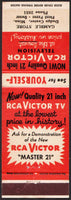 Vintage matchbook cover RCA Victor Gamble Store Dodge Center Minnesota unstruck