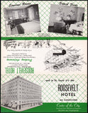 Vintage brochure ROOSEVELT HOTEL St Louis Missouri with map unused n-mint+ condition