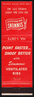 Vintage matchbook cover SIMMONS GUN SPECIALTIES hunter pictured Kansas City Missouri