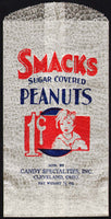 Vintage bag SMACKS PEANUTS 1 Cent girl pic Cleveland Ohio new old stock n-mint