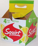 Vintage soda pop bottle carton SQUIRT 1962 4 pack 28oz size new old stock excellent+