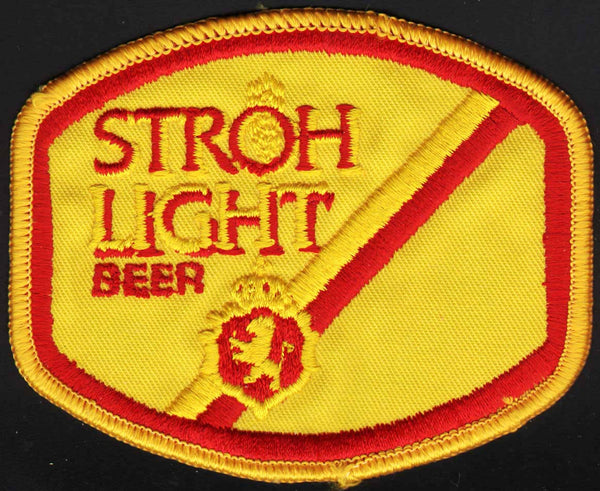Vintage uniform patch STROH LIGHT BEER lion crest unused new old stock n-mint+