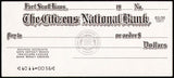 Vintage bank check THE CITIZENS NATIONAL BANK Fort Scott Kansas unused n-mint+