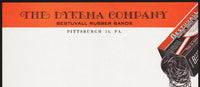 Vintage letterhead THE DYKEMA COMPANY Bestuvall Rubber Bands pictured Pittsburgh PA