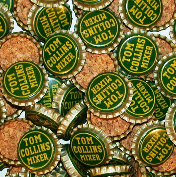 Soda pop bottle caps Lot of 25 TOM COLLINS MIXER #2 cork unused new old stock