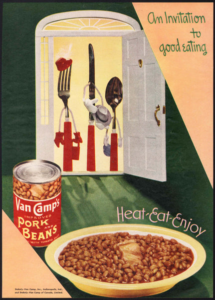 Vintage magazine ad VAN CAMPS PORK AND BEANS 1948 An Invitation to Good Eating