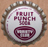 Vintage soda pop bottle caps VARIETY CLUB Collection of 3 different cork lined
