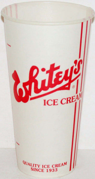 Vintage paper cup WHITEYS ICE CREAM Best In The Midwest new old stock n-mint