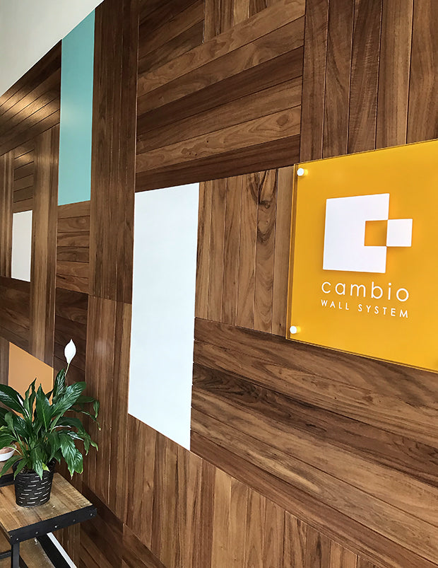 Cambio Caribbean Walnut, Color Block and custom acrylic logo.
