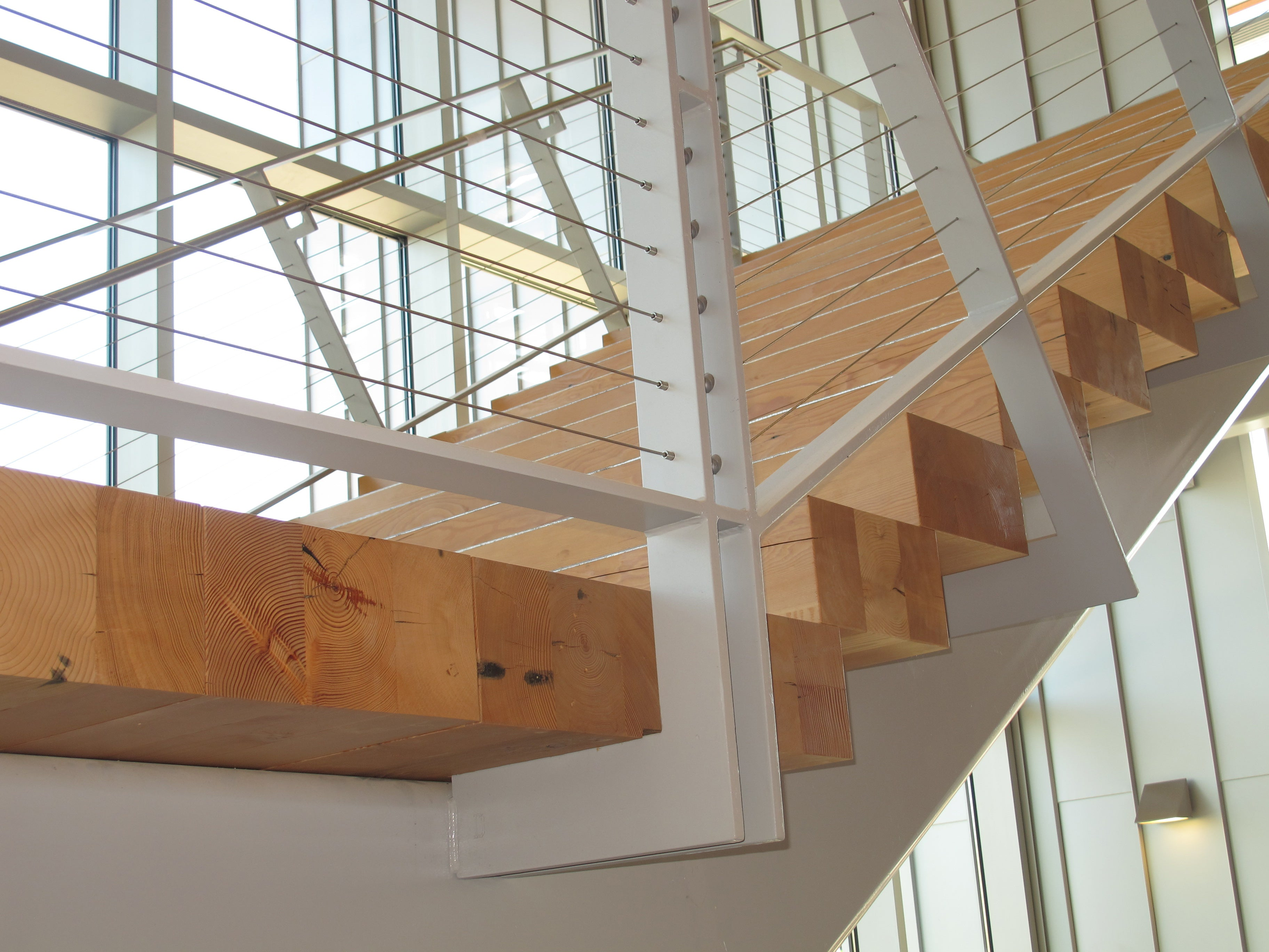 Reclaimed Douglas Fir treads and landings | Clover Pk Technical College, Lakewood, WA