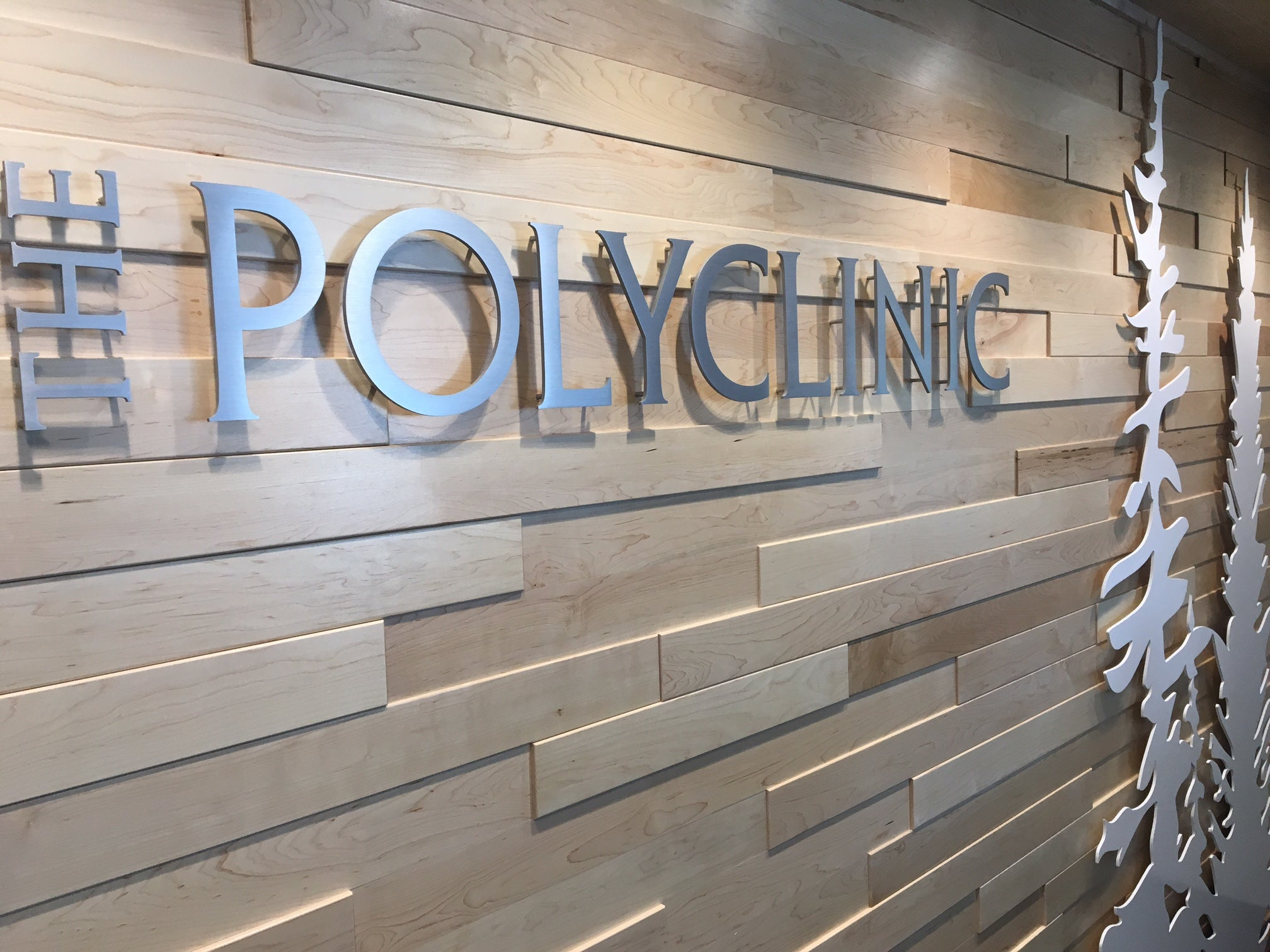 Eastern Maple Multi-Level Wall | PolyClinic, Seattle, WA