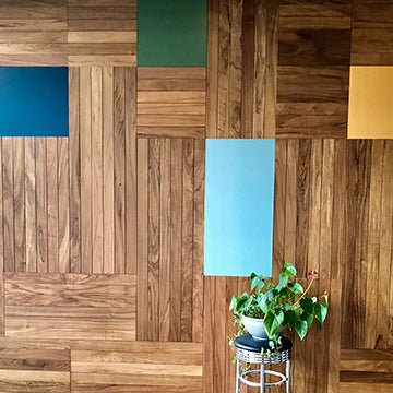 Wood, Color Block and Pin Board