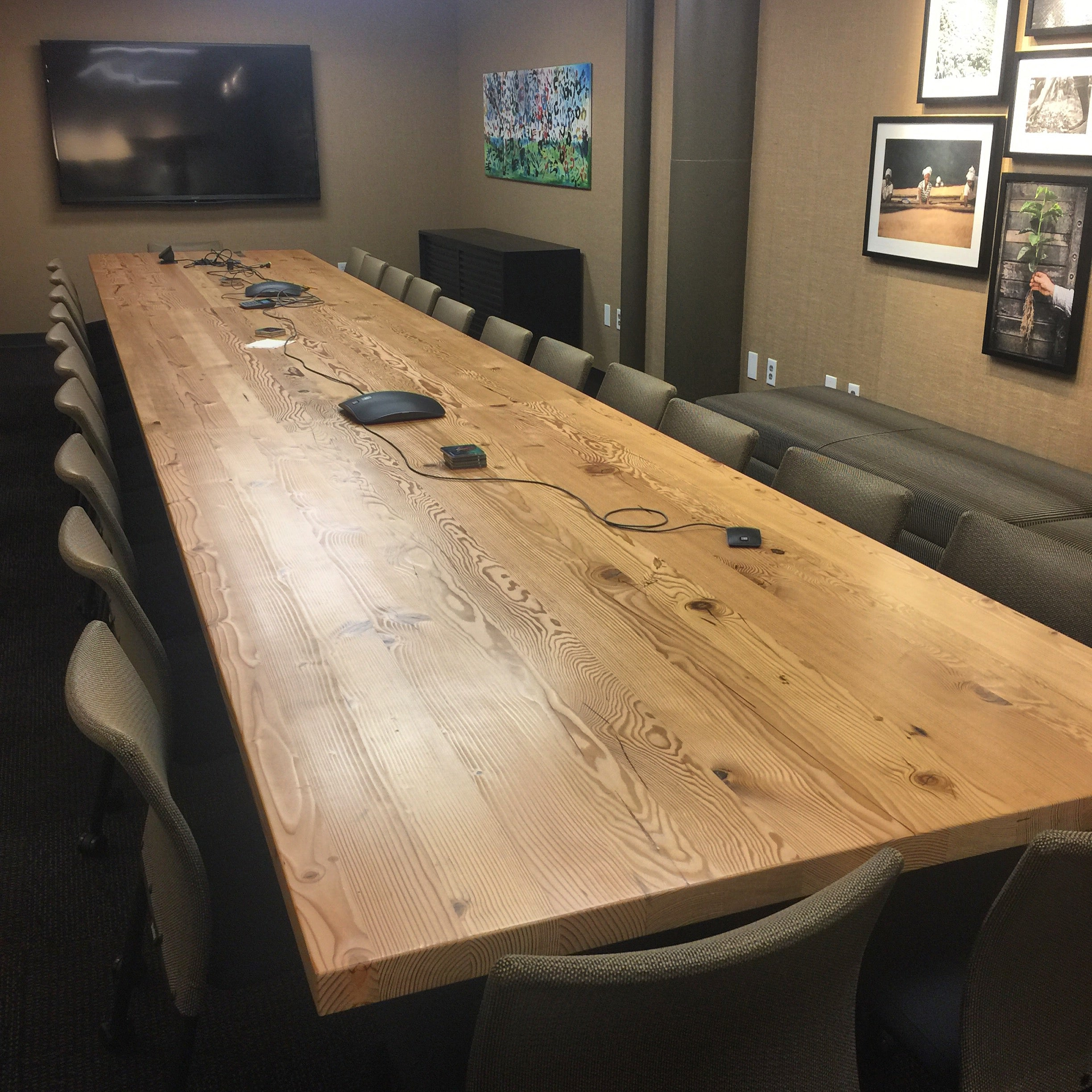 Reclaimed Douglas Fir Conference Table | Starbucks HQ, Seattle, WA