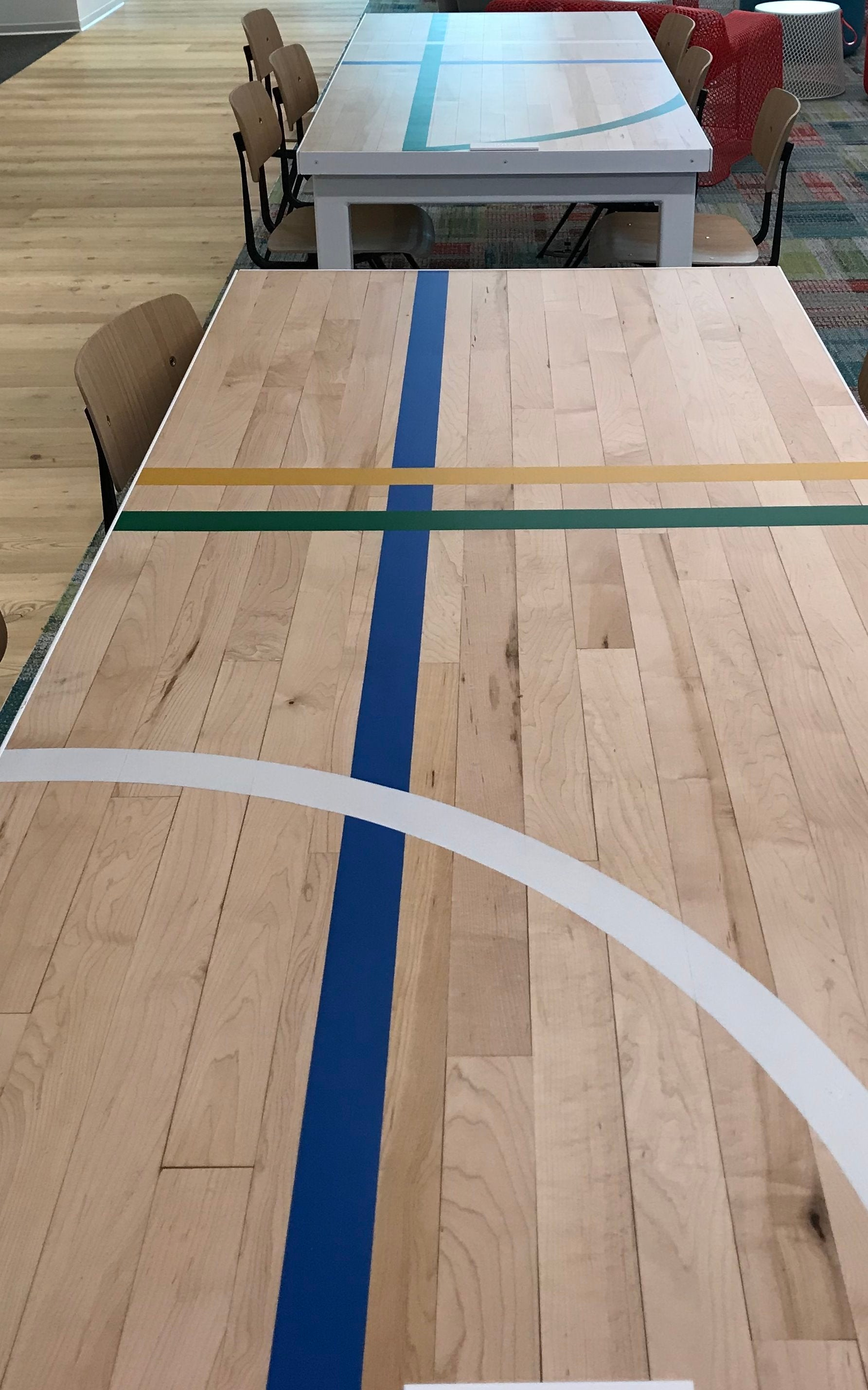 Maple Gym Floor table | Avanade Lunch Room, Seattle, WA