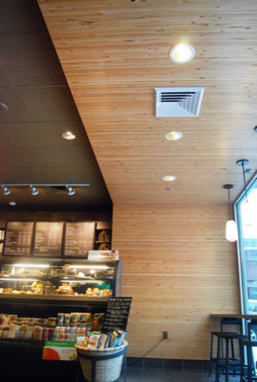 "3/4"" Engineered Panel, Clear, Starbucks"