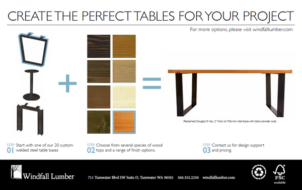 Windfall Lumber Table Launch card